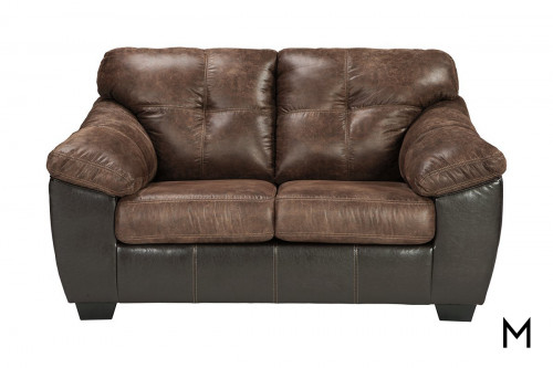Gregale Loveseat in Coffee