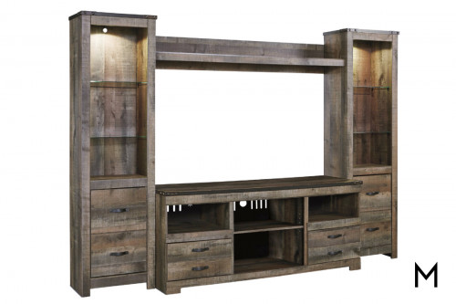 Trinell Entertainment Center with Storage Drawers