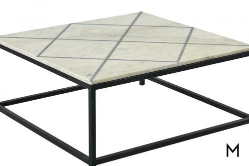 M Collection Marklund Square Coffee Table