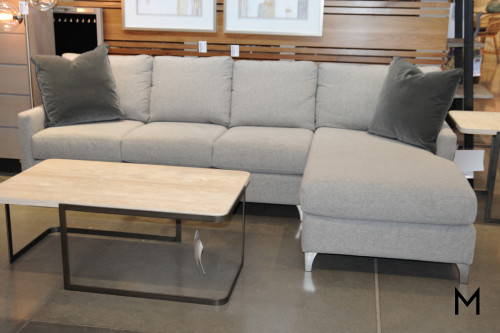 Modern 2-Piece Sectional Sofa with Chaise Lounge