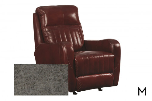 M Collection Race Track Rocker Recliner in Bombshell Slate