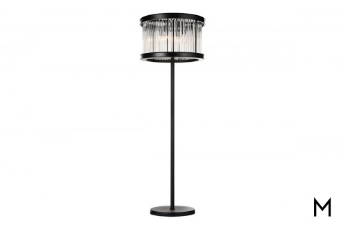 Black Pedestal Floor Lamp