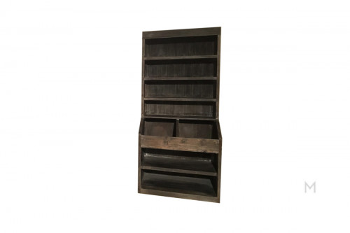 M Collection Rustic Vintage Bookcase