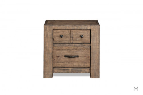 Griffith 2 Drawer Nightstand in Weathered Toffee