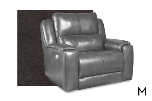 M Collection Dazzle Oversized Recliner in Passion Slate