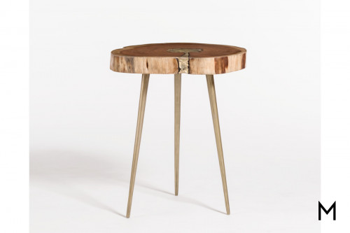 Vail Molten End Table with Bronze Fill