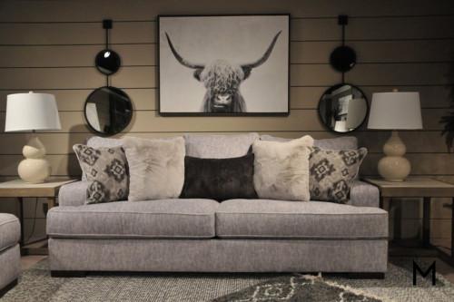 Mercado Sofa in Pewter Grey