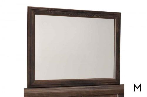 Quinden Dresser Mirror in Dark Brown with a Vintage Finish