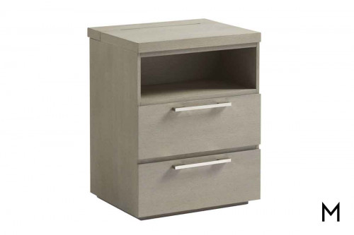 Axis Kids 2 Drawer Nightstand with Charging Station and Built-in Night Light