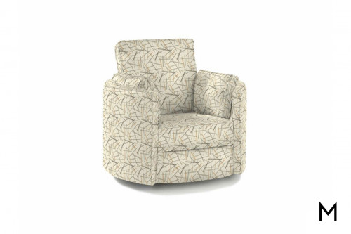Ryder Reclining Swivel Chair in Dash Lattee