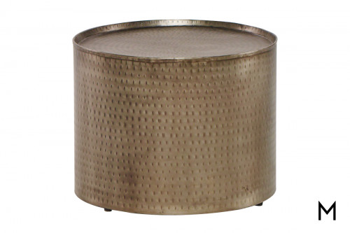 M Collection Madison Metal Lamp Table