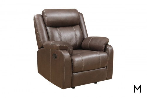 Domino Gliding Recliner Chair in Chocolate Brown
