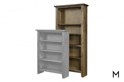"Alder 74"" Tall Bookcase with Tobacco Finish"