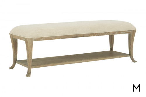 Rustic Cushioned Bench