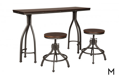 Odium Counter Height 3 Piece Table Set