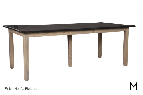 """Rectangular Dining Table with One 18"""" Leaf"""