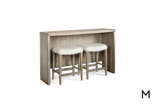 Sophie Sofa Table Set with 2 Upholstered Stools