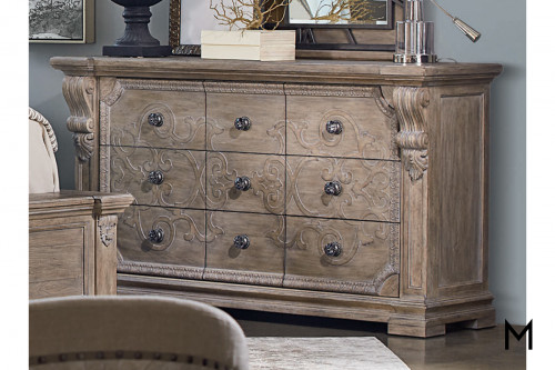 Chambers 9-Drawer Dresser with Crystal Pulls