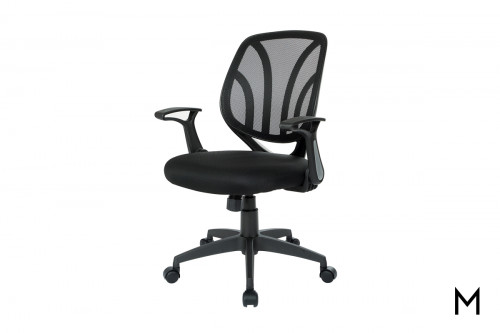 Screen Back Desk Chair with Flip Arms
