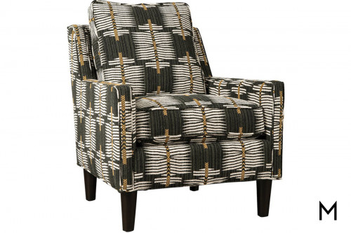 M Collection Patterned Accent Chair