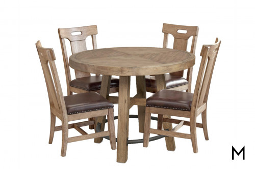 Pub Gathering Table Set with Four Chairs