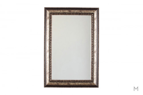 Dulal Wall Mirror in Antique Silver