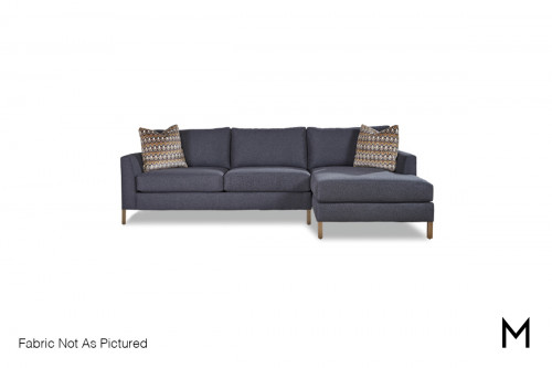 Chaise 2 Piece Sectional Sofa with Contrasting Accent Pillows