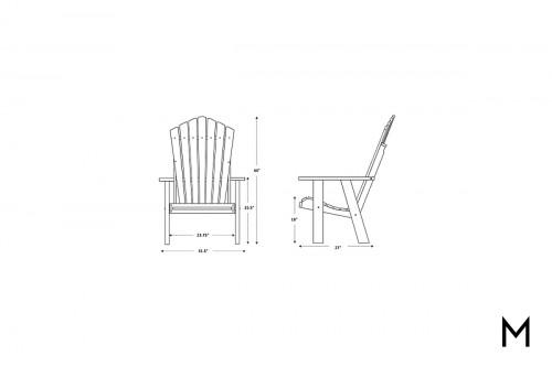 Aruba White Patio Chair