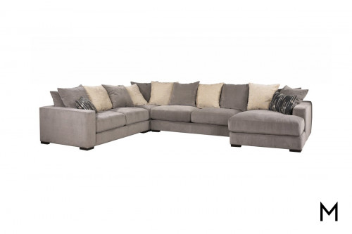 Chaise Lounge 4-Piece Sectional Sofa