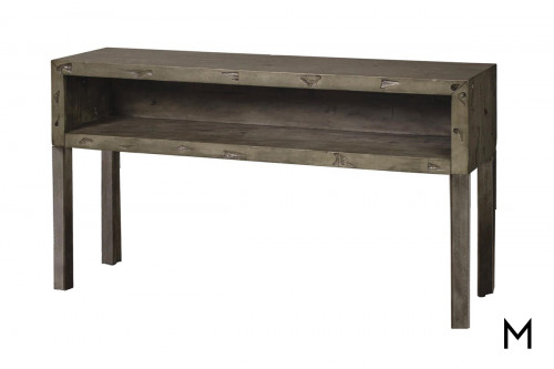M Collection Rustic Weathered Sofa Table