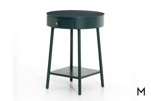 Van Round End Table with 1 Drawer