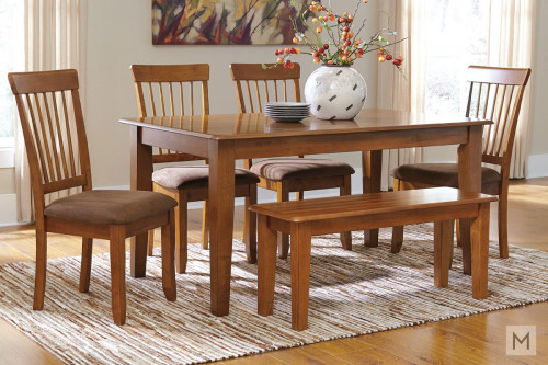 "Berringer 60"" Dining Table in Rustic Brown"