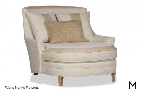 Transitional Chaise Lounge