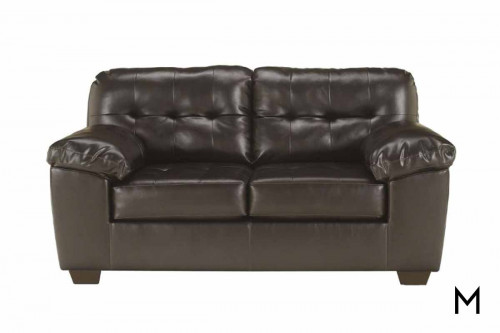 Alliston DuraBlend Loveseat in Chocolate Brown