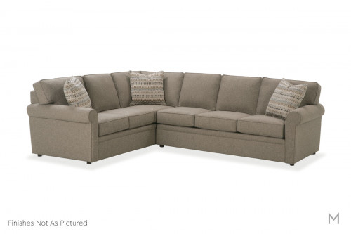 Brentwood Upholstered Sectional in Smoke