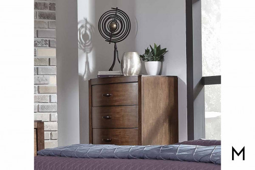 Avalon III 5 Drawer Chest in Pebble Brown