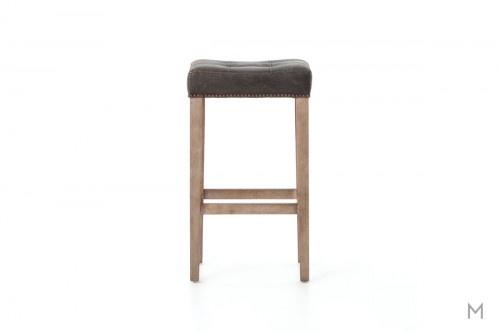 Sean Bar Height Stool in Destroyed Black and Whitewash