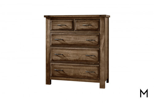 Maple Road Five Drawer Chest in Maple Syrup