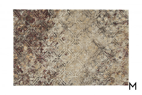 Abstract Mocha Area Rug 5x7