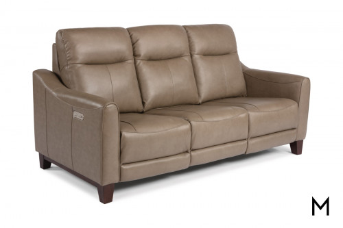 Forte Power Headrest Sofa in Mushroom