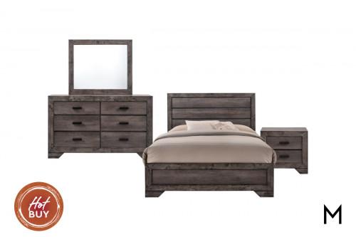 Nathan 4-Piece Bedroom Set - Full