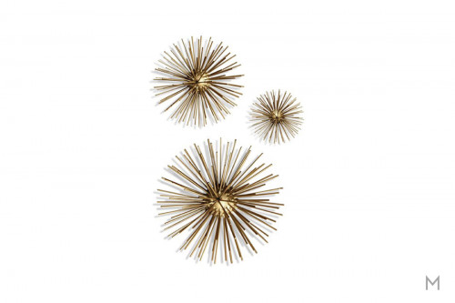 Metal Starburst Wall Décor as a Set of Three