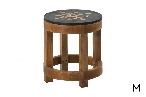 M Collection Renard Round Accent Table