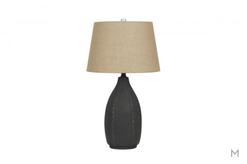 Bosque Ceramic Table Lamp Set in Charcoal