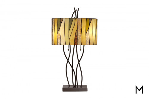 Autumn Glass Table Lamp