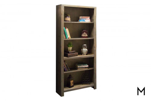 "Joshua Creek 72"" Bookcase in Rustic Barnwood Finish"