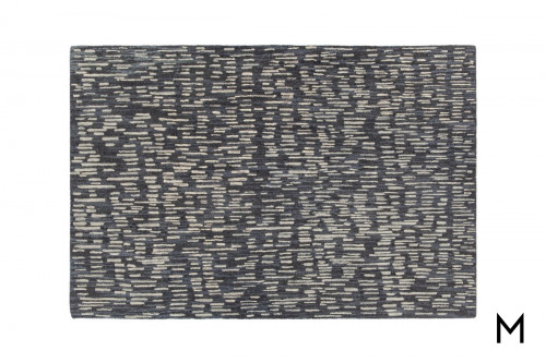 Misty Area Rug 8'x10' in Black and Gray