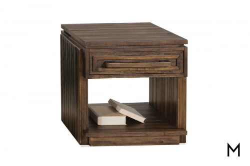 Modern Gatherings End Table made of Acacia Wood