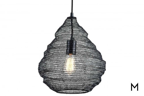 Conical Chain-Mail 1-Light Pendant