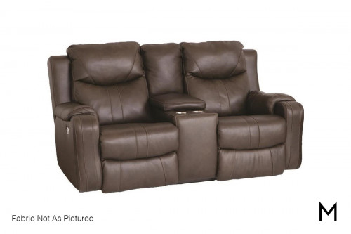 M Collection Marvel Sofa with Console in Passion Vintage
